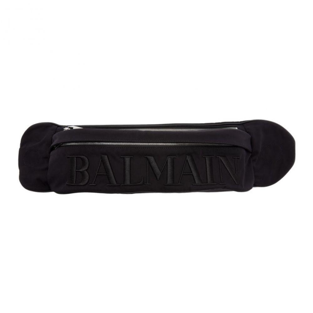 バルマン Balmain メンズ バッグ ボディバッグ・ウエストポーチ【Black Nylon Belt Bag】Noir