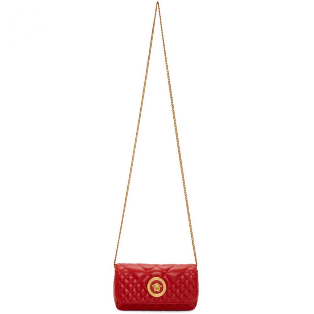 ヴェルサーチ Versace レディース バッグ【Red Mini Quilted Icon Bag】Red