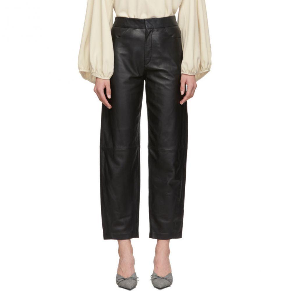 トーテム Toteme レディース ボトムス・パンツ【Black Leather Novara Trousers】Black