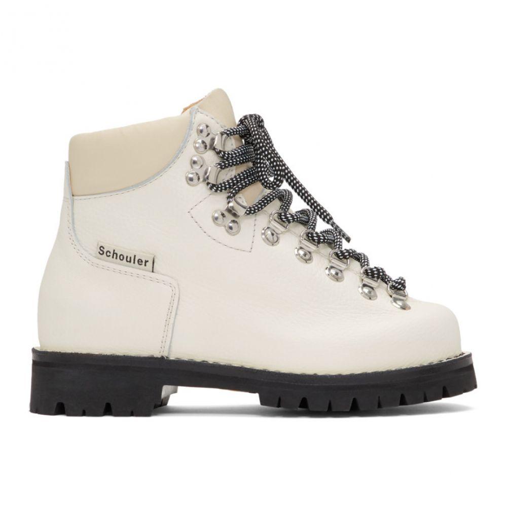 プロエンザ スクーラー Proenza Schouler レディース ハイキング・登山 シューズ・靴【White Lace-Up Hiking Boots】White