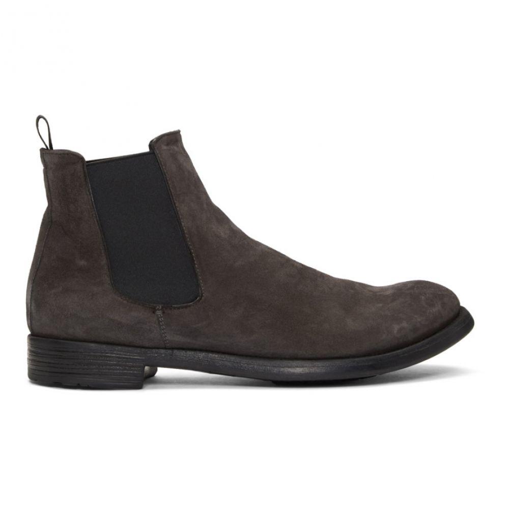 オフィチーネ Officine Creative メンズ シューズ・靴 ブーツ【Grey Hive 007 Chelsea Boots】Blackboard