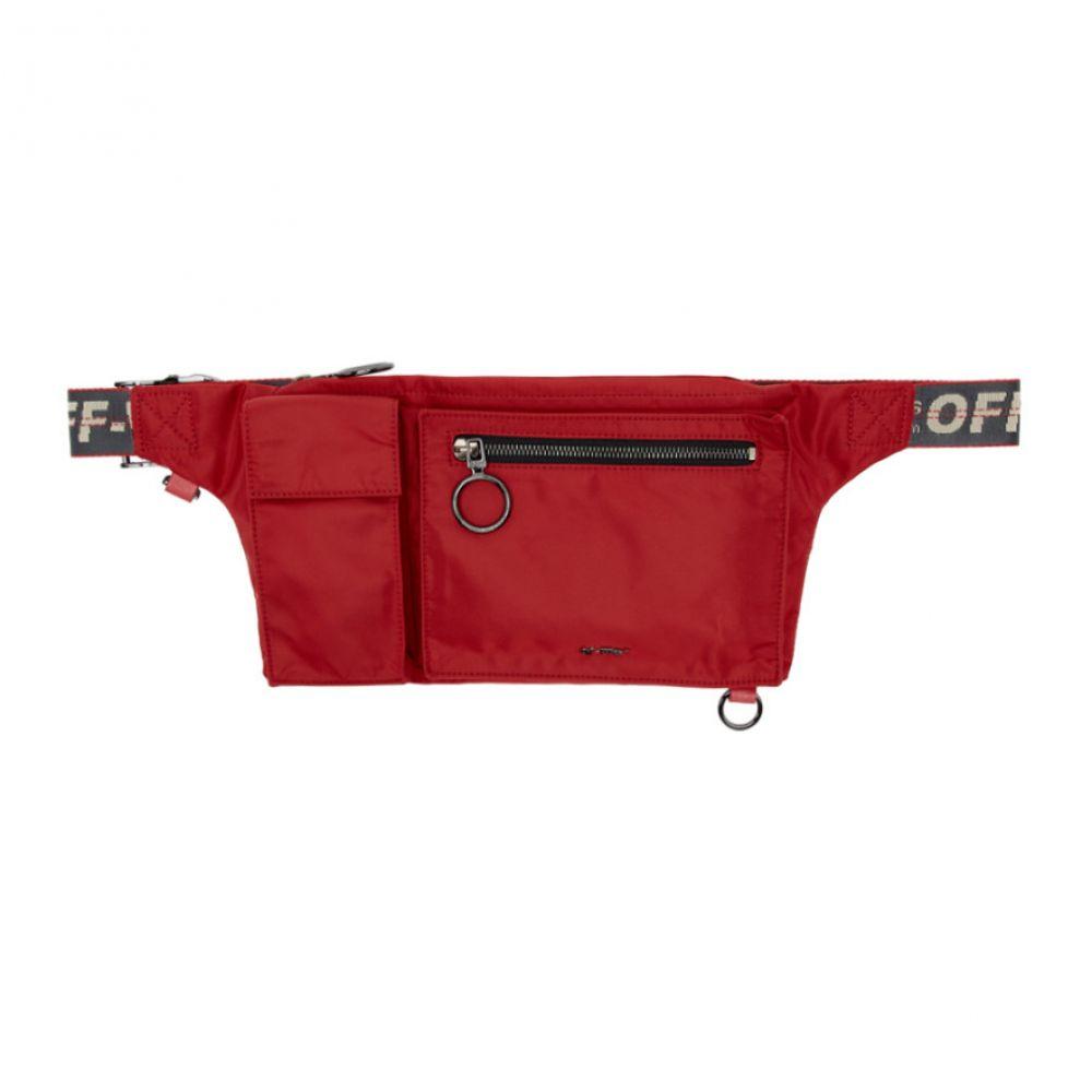 オフ-ホワイト Off-White レディース バッグ ボディバッグ・ウエストポーチ【Red Pockets Fanny Pack】Red