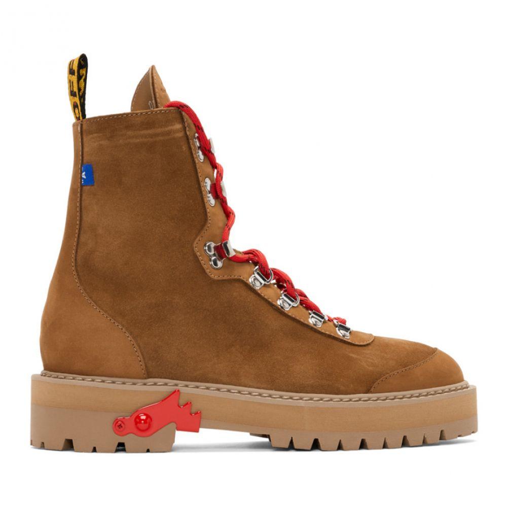 オフ-ホワイト Off-White メンズ ハイキング・登山 シューズ・靴【Brown Hiking Boots】Light brown