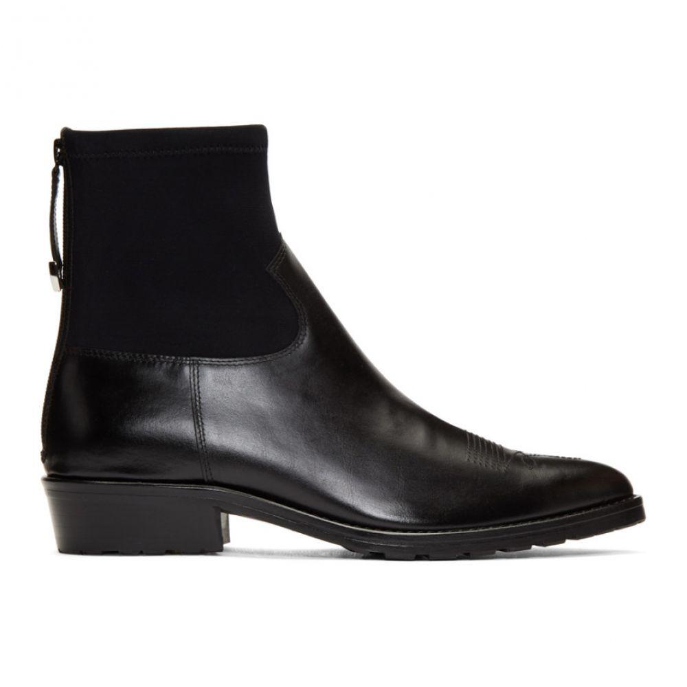 トーガ Toga Virilis メンズ シューズ・靴 ブーツ【Black Hard Leather & Neoprene Boots】Black