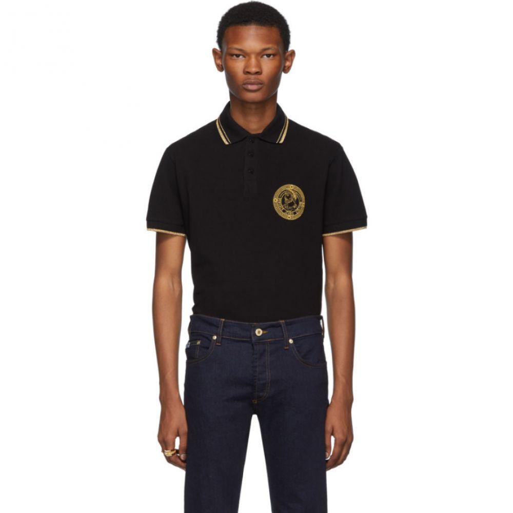ヴェルサーチ Versace Jeans Couture メンズ トップス ポロシャツ【Black Medallion Polo】Black