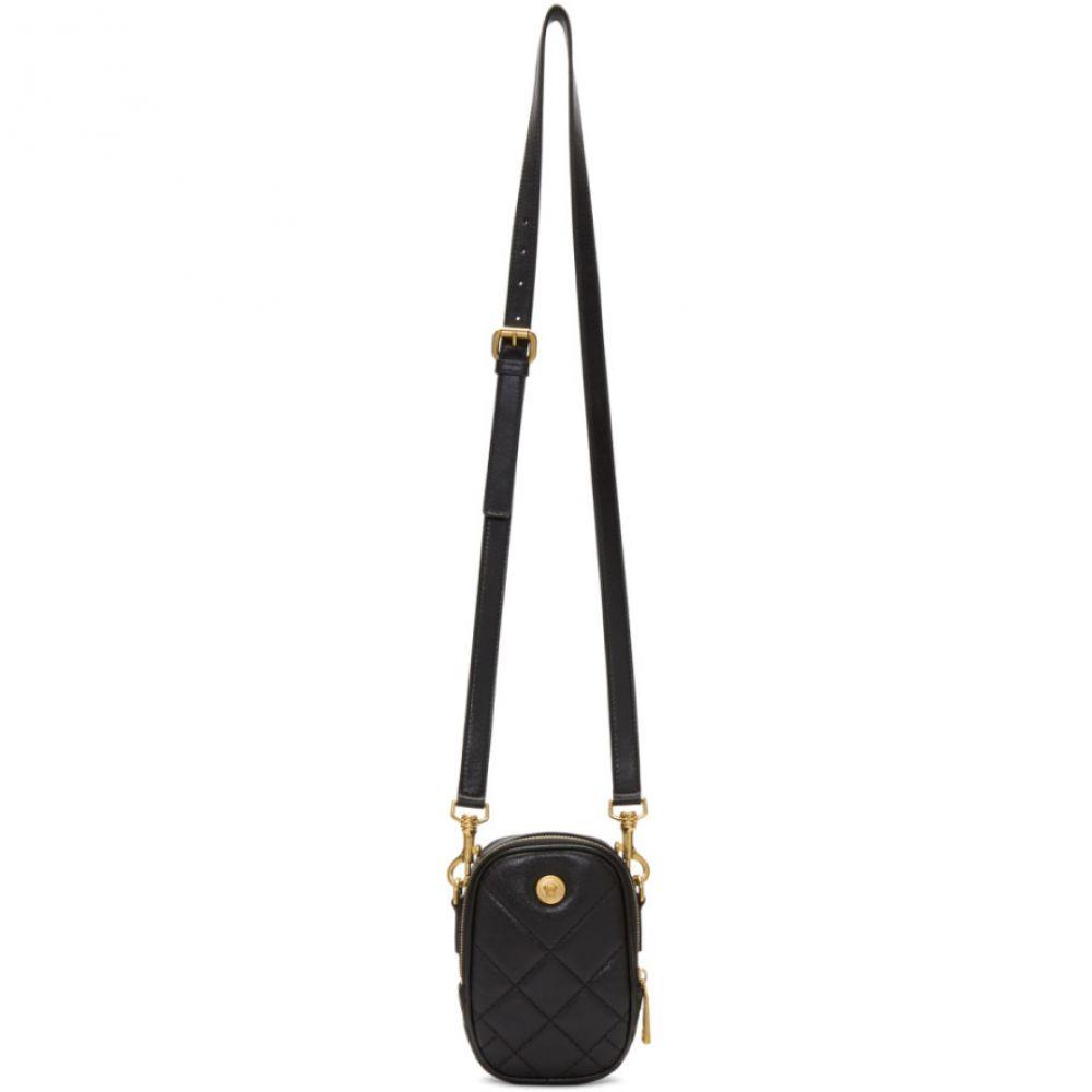 ヴェルサーチ Versace メンズ ポーチ【Black Tribute Pouch】Black/Gold