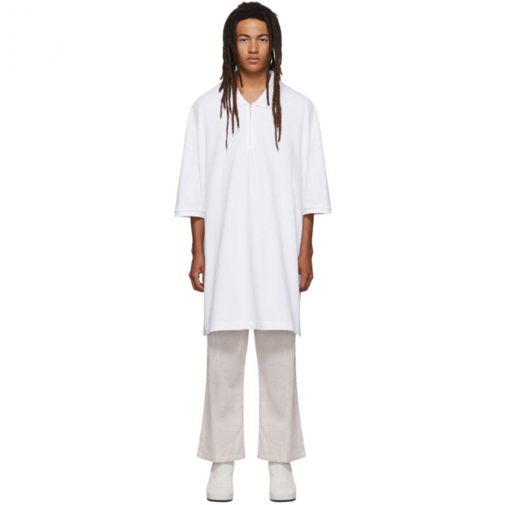 ランダム アイデンティティーズ Random Identities メンズ トップス ポロシャツ【White Oversized Cut-Out Polo】White