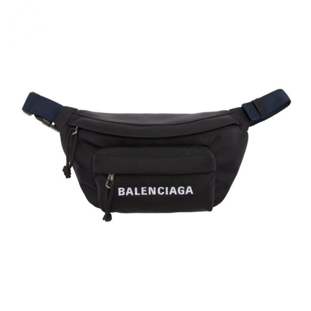 バレンシアガ Balenciaga レディース バッグ ボディバッグ・ウエストポーチ【Black Small Wheel Belt Bag】Black/Blue