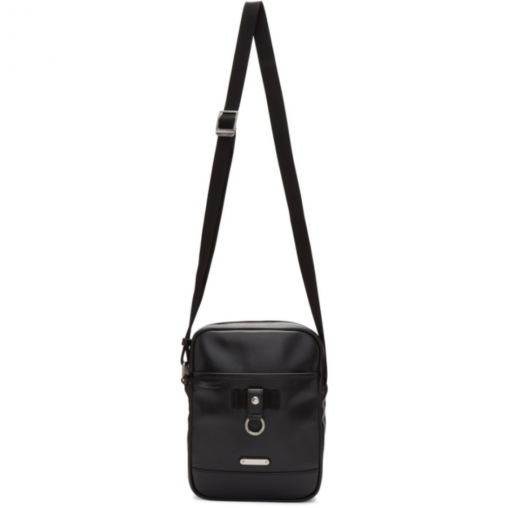 イヴ サンローラン Saint Laurent メンズ バッグ【Black Leather Rivington Race Bag】Black /Black