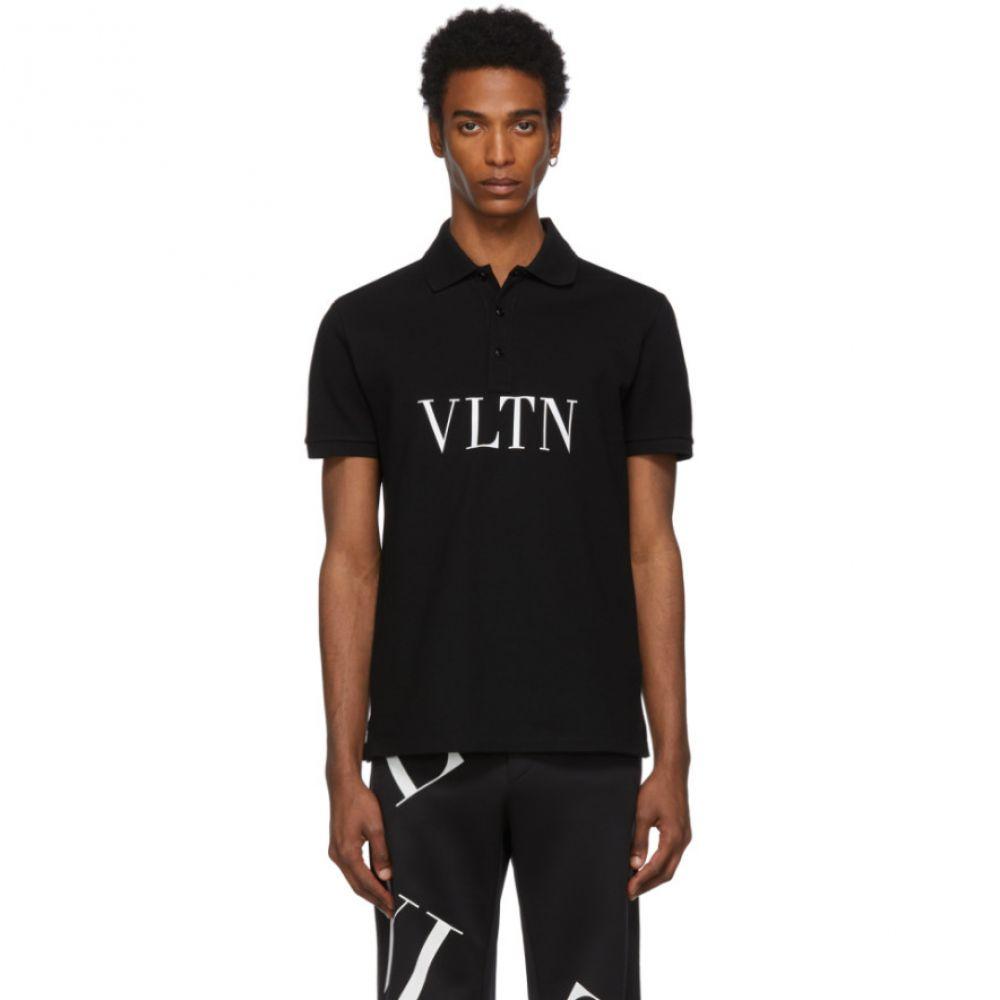 ヴァレンティノ Valentino メンズ トップス ポロシャツ【Black 'VLTN' Polo】Black