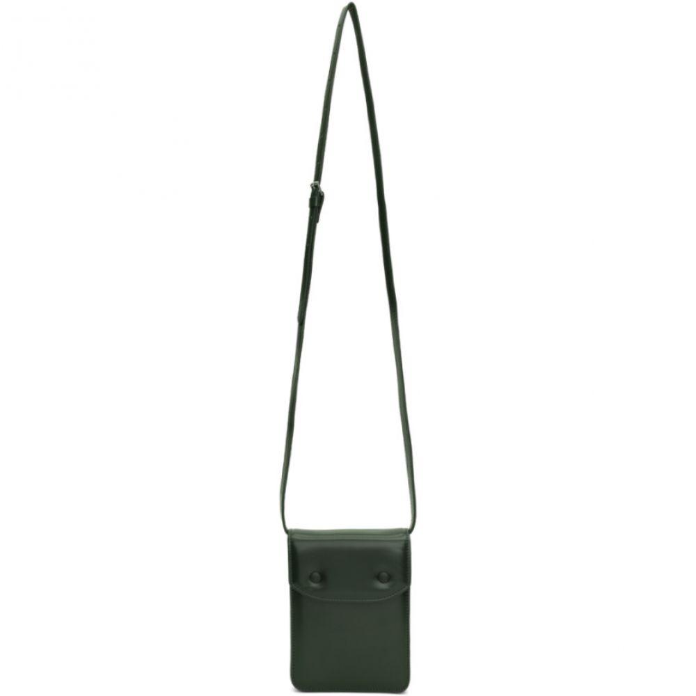 メゾン マルジェラ Maison Margiela メンズ ポーチ【Green Leather Snap Pouch】Green gables