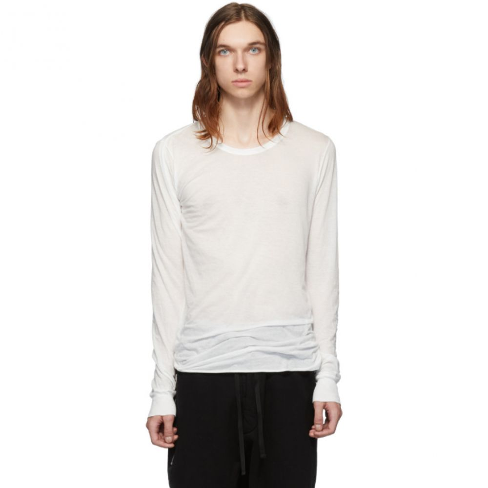 リック オウエンス Rick Owens メンズ トップス 長袖Tシャツ【White Basic Long Sleeve T-Shirt】Milk
