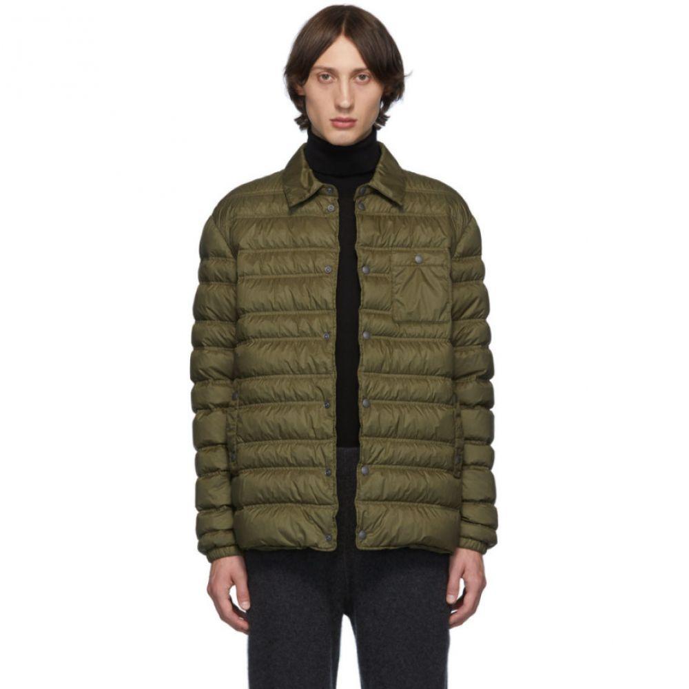 ジーゼニア Z Zegna メンズ アウター ダウン・中綿ジャケット【Khaki Down Shirt Jacket】Olive