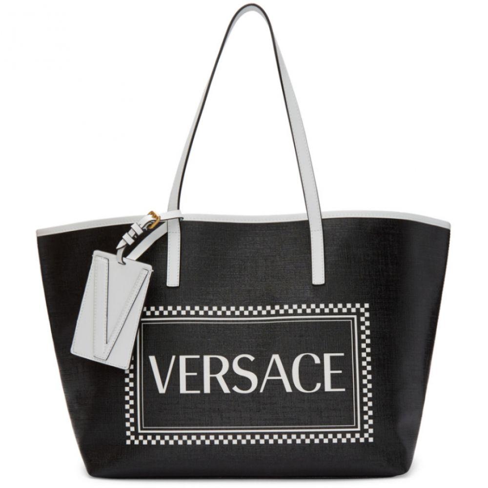 ヴェルサーチ レディース バッグ トートバッグ Black 【サイズ交換無料】 ヴェルサーチ Versace レディース バッグ トートバッグ【Black Small 90s Vintage Logo Tote】Black
