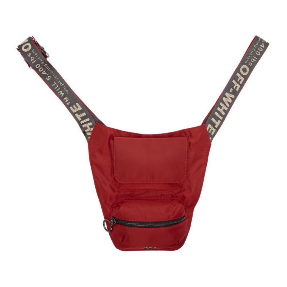 オフ-ホワイト Off-White メンズ バッグ【Red Logo Bodybag】Red