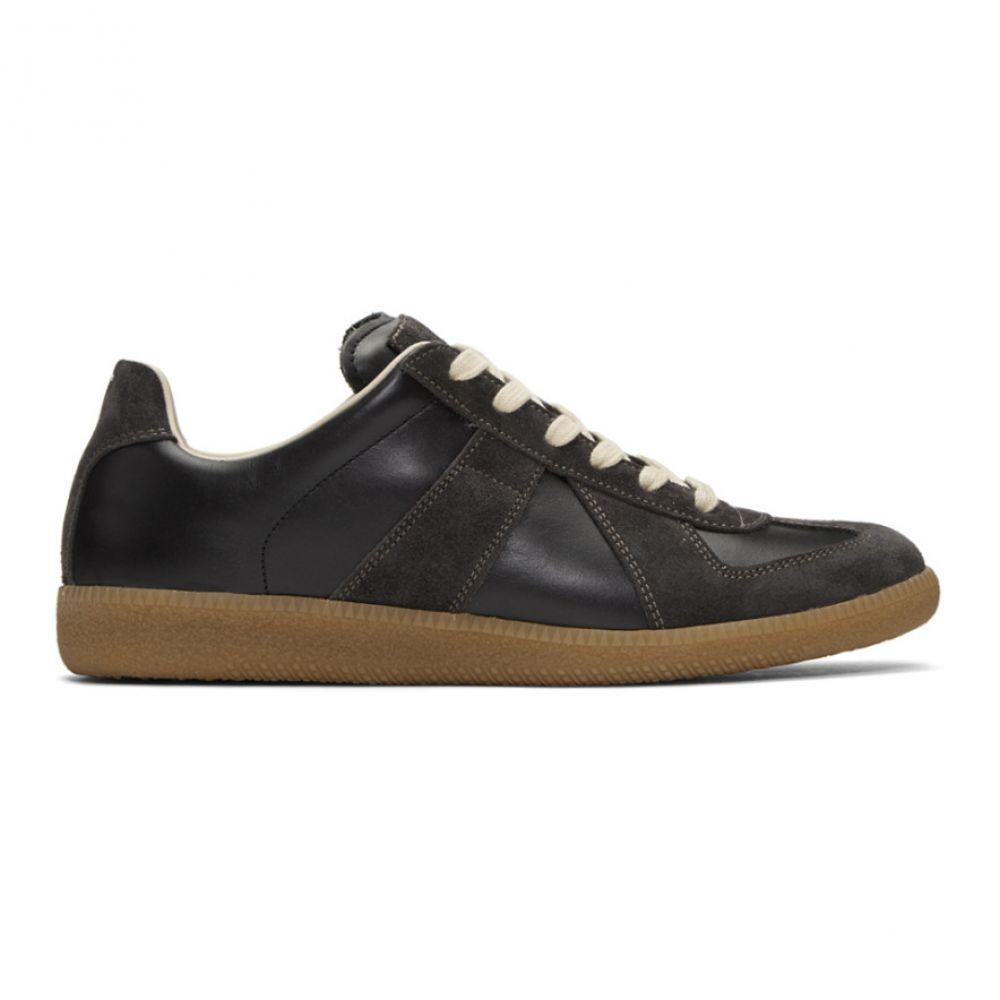 メゾン マルジェラ Maison Margiela メンズ シューズ・靴 スニーカー【Black & Brown Replica Sneakers】Black