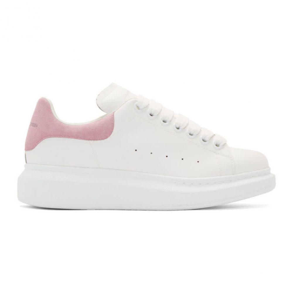 アレキサンダー マックイーン Alexander McQueen レディース シューズ・靴 スニーカー【SSENSE Exclusive White & Pink Oversized Sneakers】White/Sugar pink