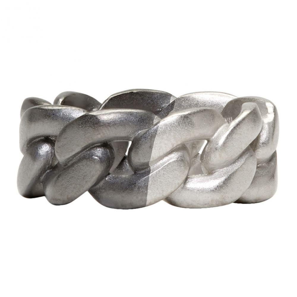 メゾン マルジェラ Maison Margiela メンズ ジュエリー・アクセサリー 指輪・リング【Silver & Black Chain-Link Ring】Silver/Black