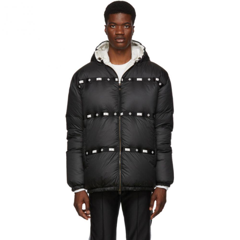 ミスター&ミセス イタリー Mr & Mrs Italy メンズ アウター ダウン・中綿ジャケット【Black Satin Puffer Jacket】Black