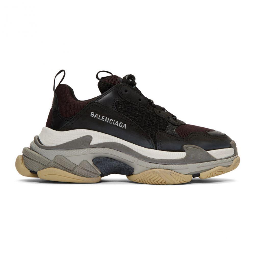 バレンシアガ Balenciaga メンズ シューズ・靴 スニーカー【Black & Burgundy Triple S Sneakers】Black/Burgundy/White