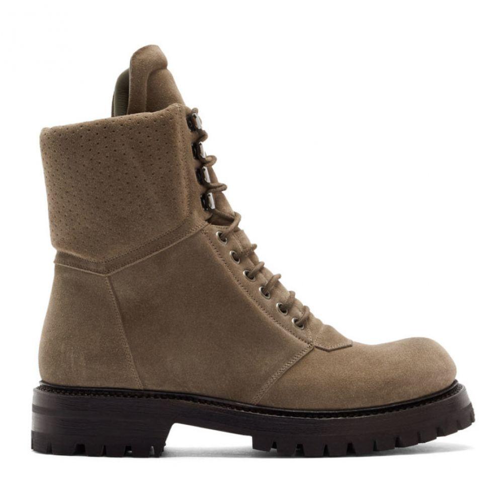 リック オウエンス Rick Owens メンズ ハイキング・登山 シューズ・靴【Grey Army Hiking Boots】Dust grey
