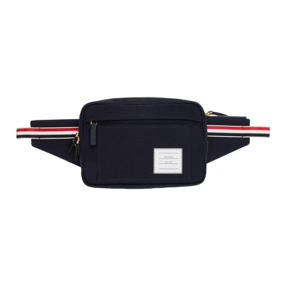 トム ブラウン Thom Browne メンズ バッグ ボディバッグ・ウエストポーチ【Navy Canvas Belt Bag】Navy