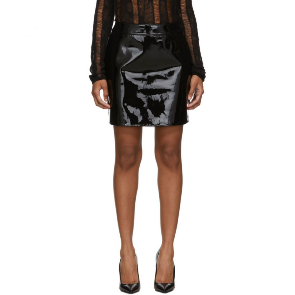 イヴ サンローラン Saint Laurent レディース スカート ミニスカート【Black Patent Miniskirt】Black