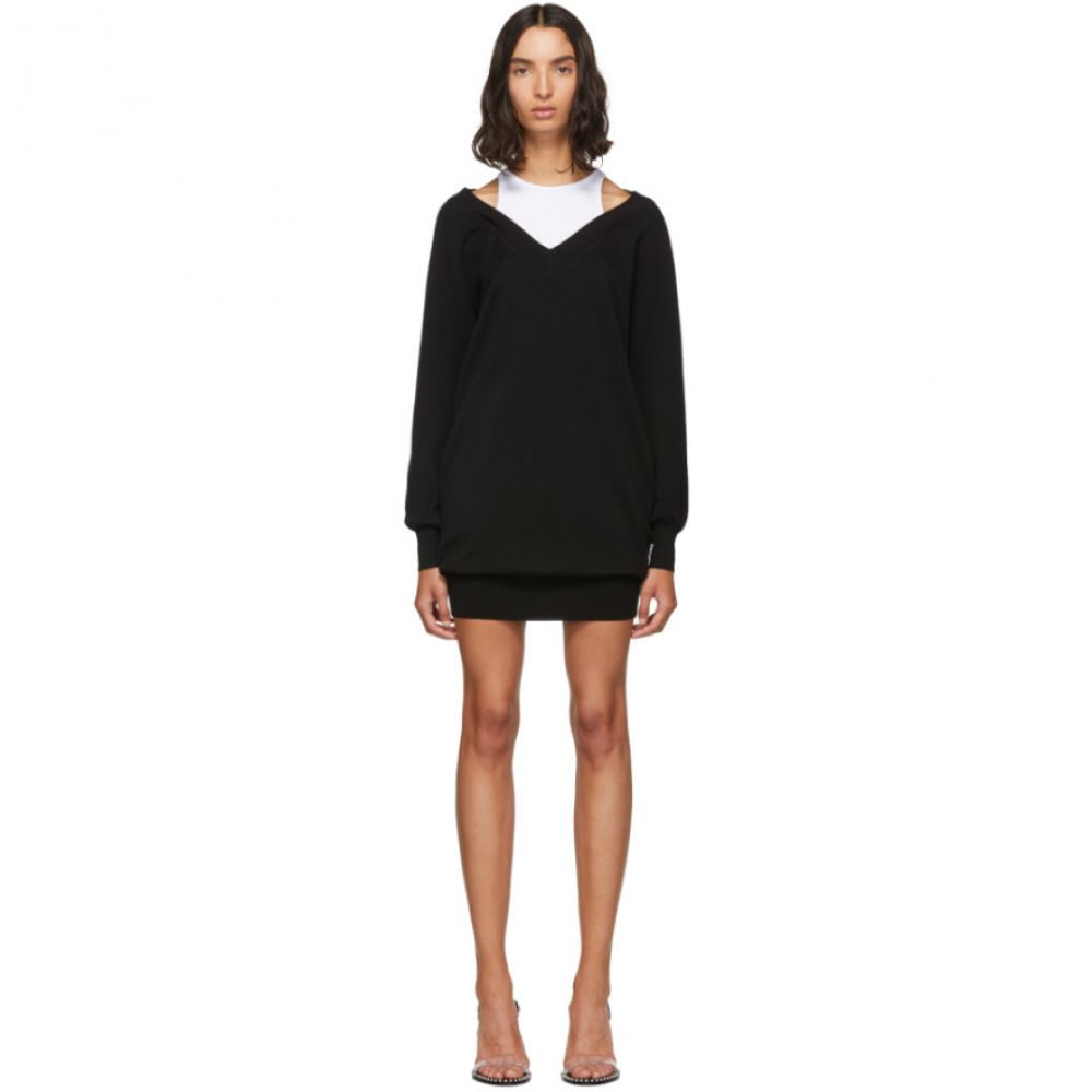 アレキサンダー ワン alexanderwang.t レディース ワンピース ワンピース・ドレス【black & white bi-layer sweater dress】