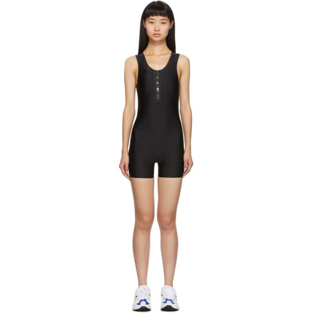 リーボック Reebok By Victoria Beckham レディース ボディースーツ インナー・下着【black unitard bodysuit】