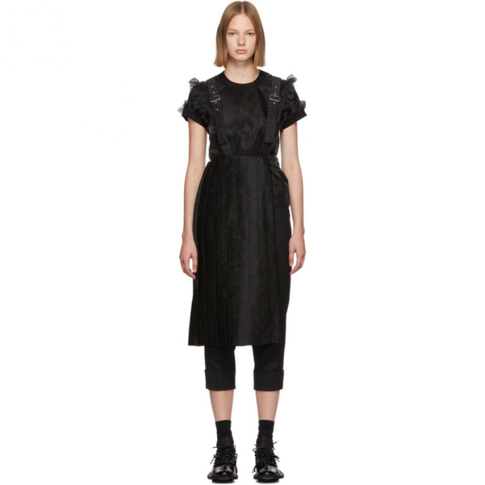 ノワール ケイ ニノミヤ Noir Kei Ninomiya レディース スカート 【black pleated suspenders skirt】