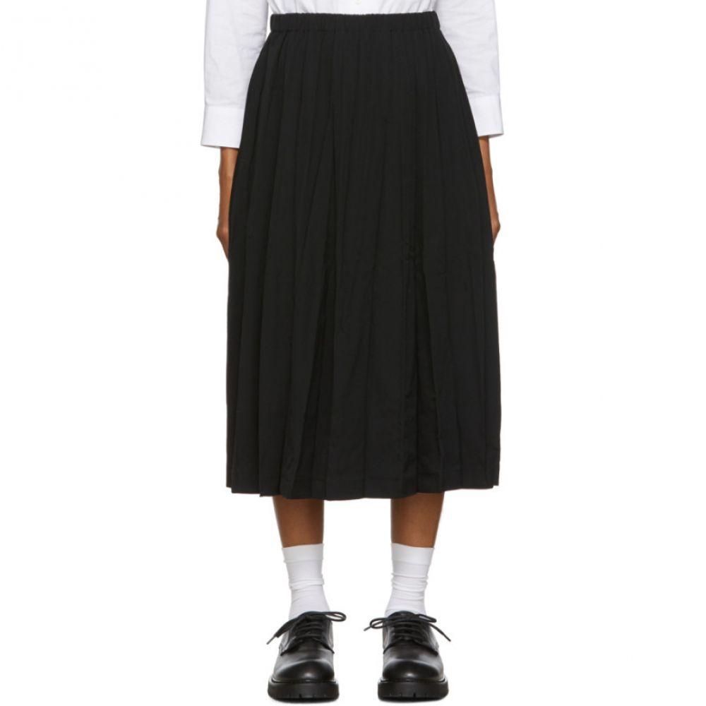 コム デ ギャルソン Tricot Comme des Garcons レディース スカート 【black gabardine pleated skirt】