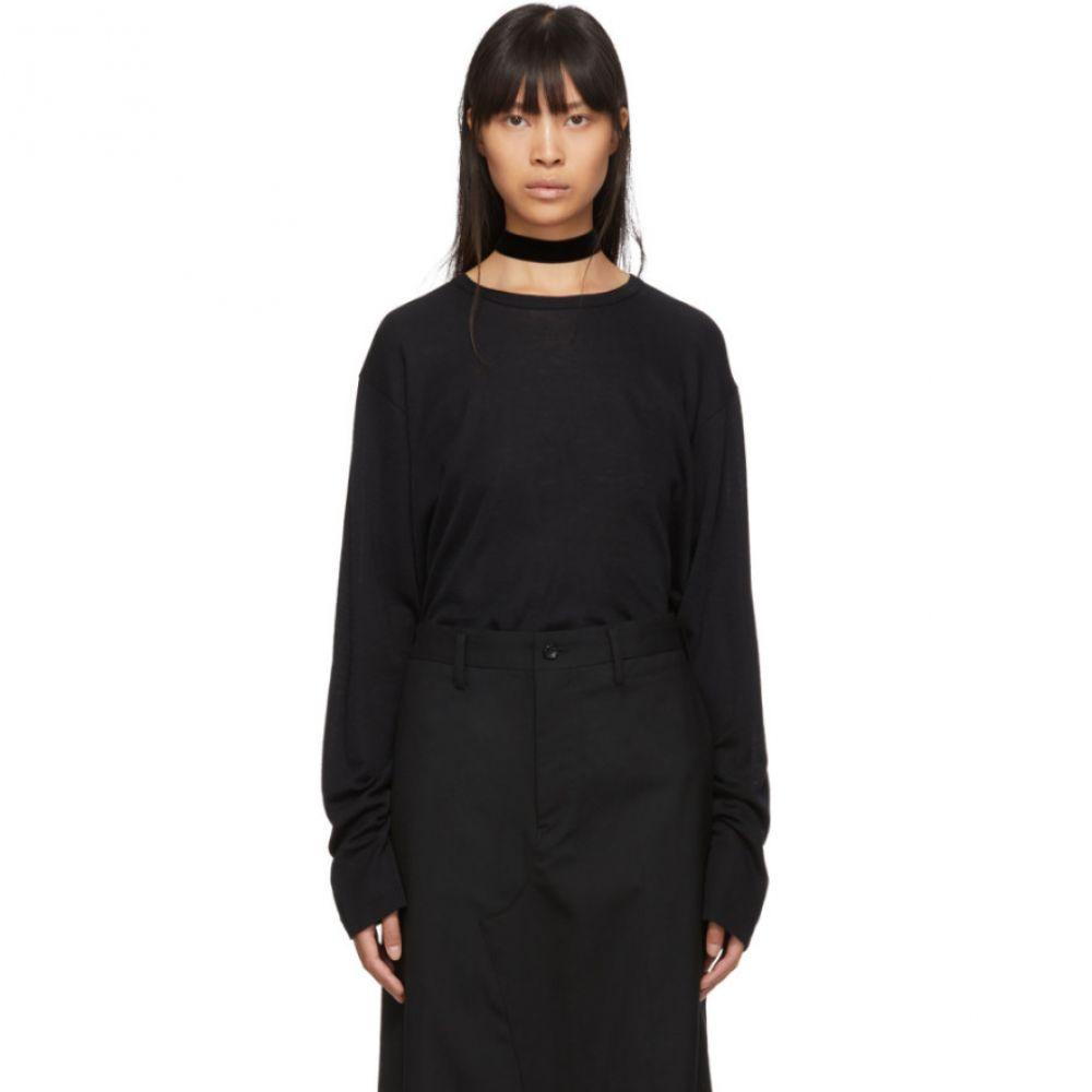 ジュンヤ ワタナベ Junya Watanabe レディース ニット・セーター トップス【black fraise stitch sweater】