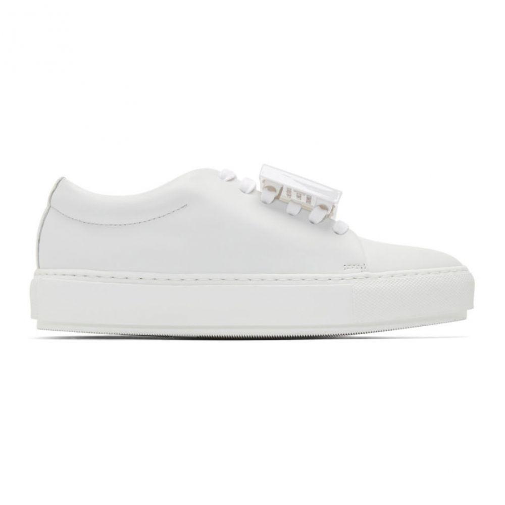アクネ ストゥディオズ Acne Studios レディース スニーカー シューズ・靴【white adriana turn up sneakers】