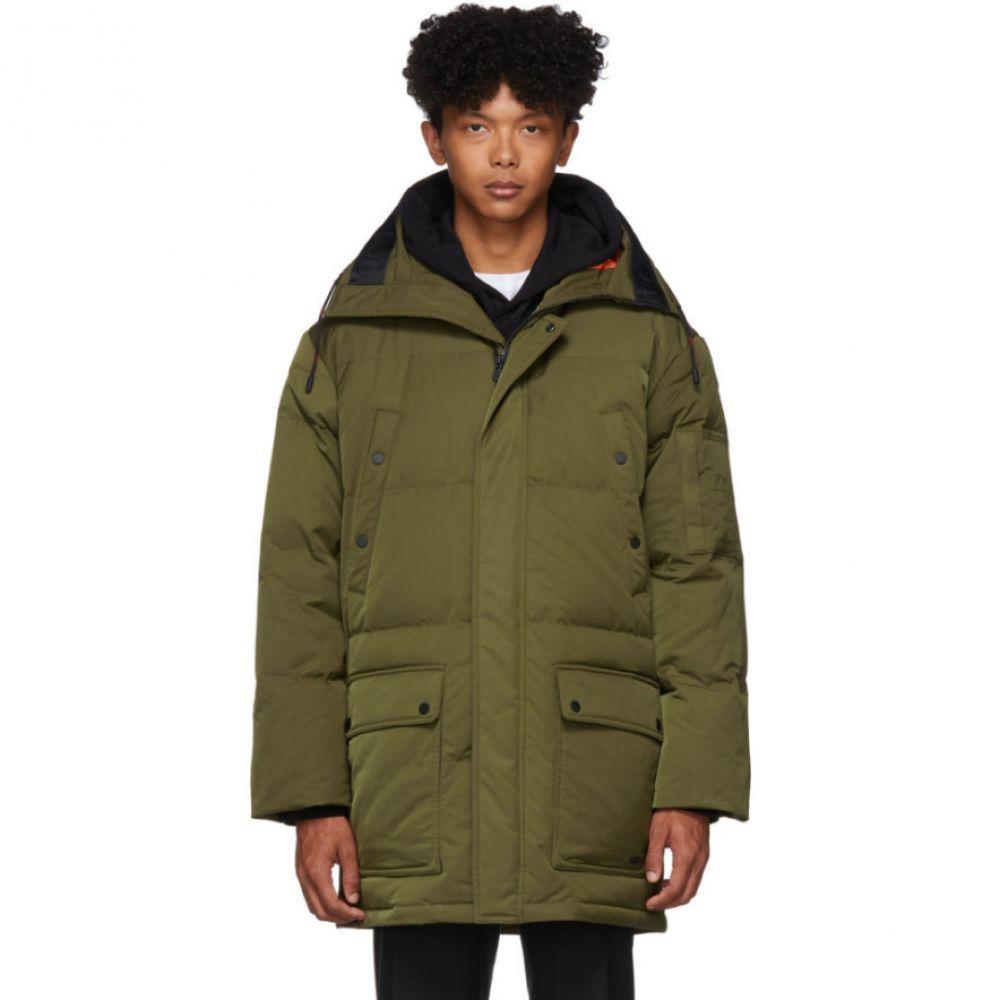 ヒューゴ ボス Hugo メンズ ダウン・中綿ジャケット アウター【green down melmus 1941 coat】