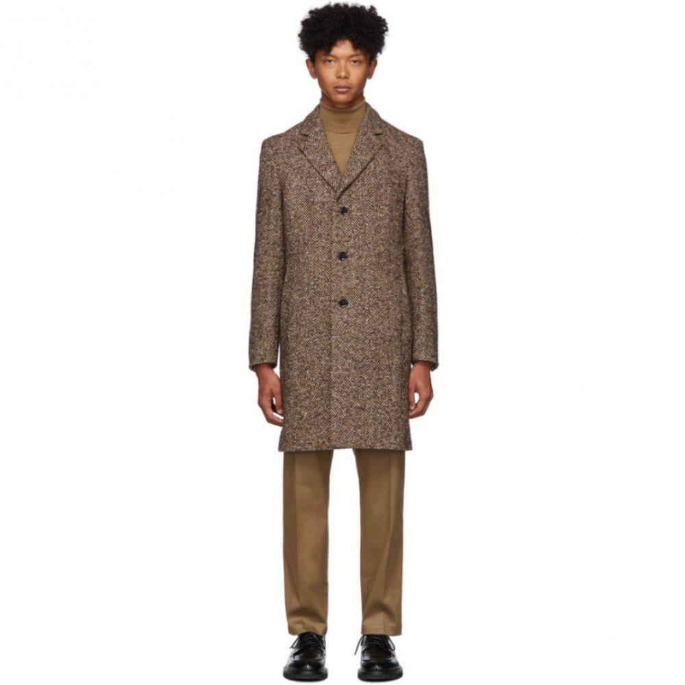 ヒューゴ ボス Boss メンズ コート アウター【brown herringbone nye coat】