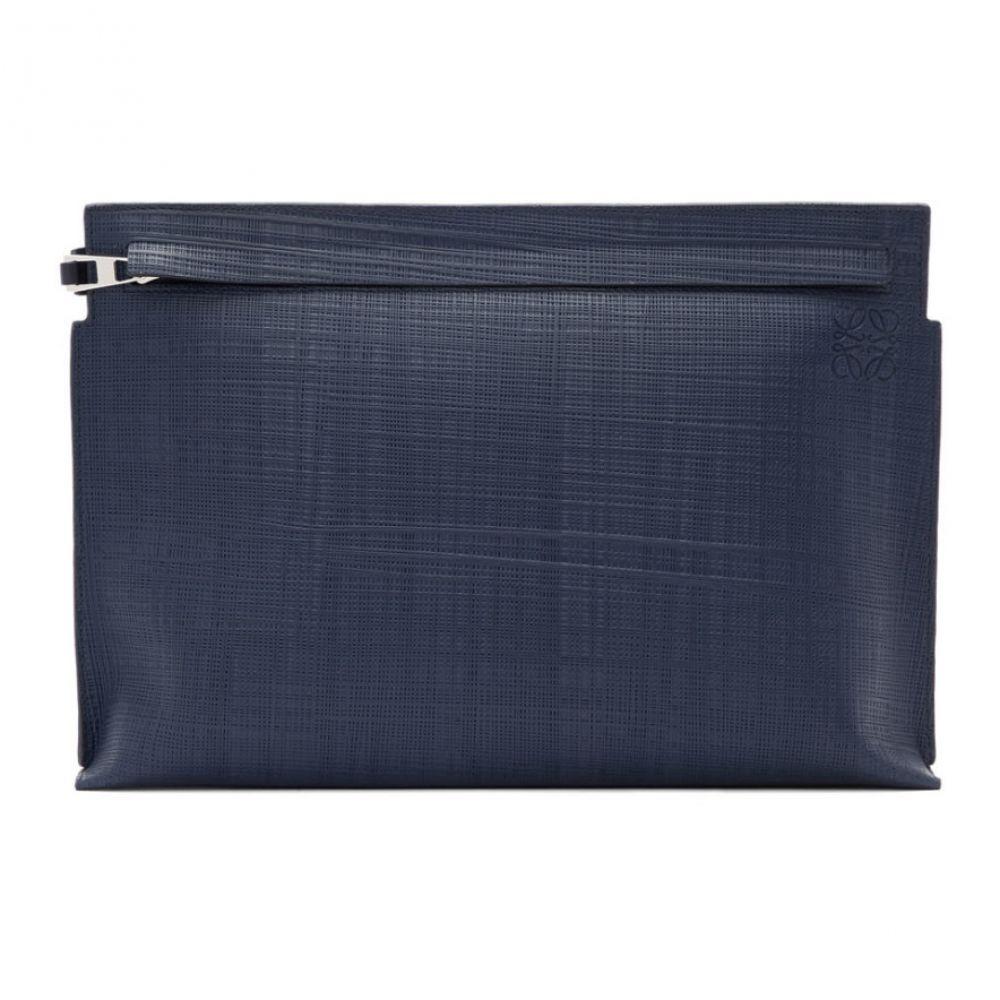 ロエベ メンズ 財布・時計・雑貨 ポーチ 【サイズ交換無料】 ロエベ Loewe メンズ ポーチ 【navy linen t pouch】