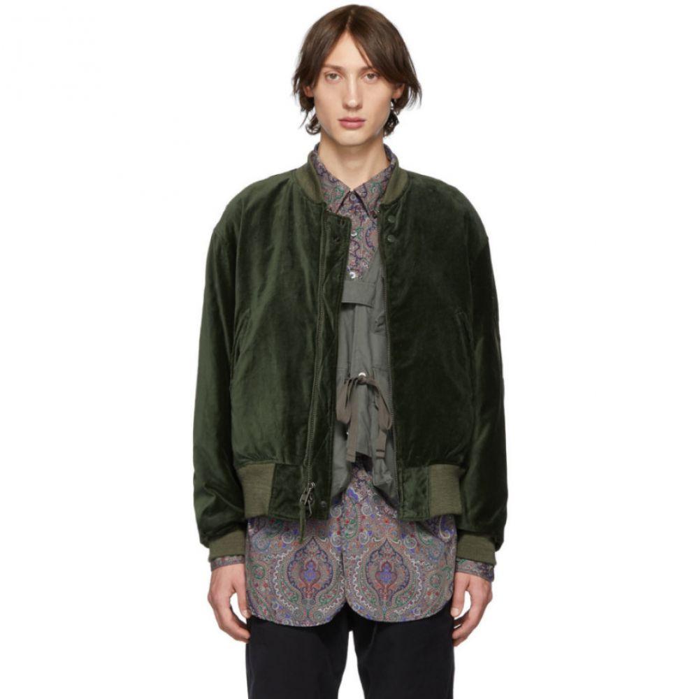 エンジニアードガーメンツ Engineered Garments メンズ ブルゾン ミリタリージャケット アウター【green velvet bomber jacket】