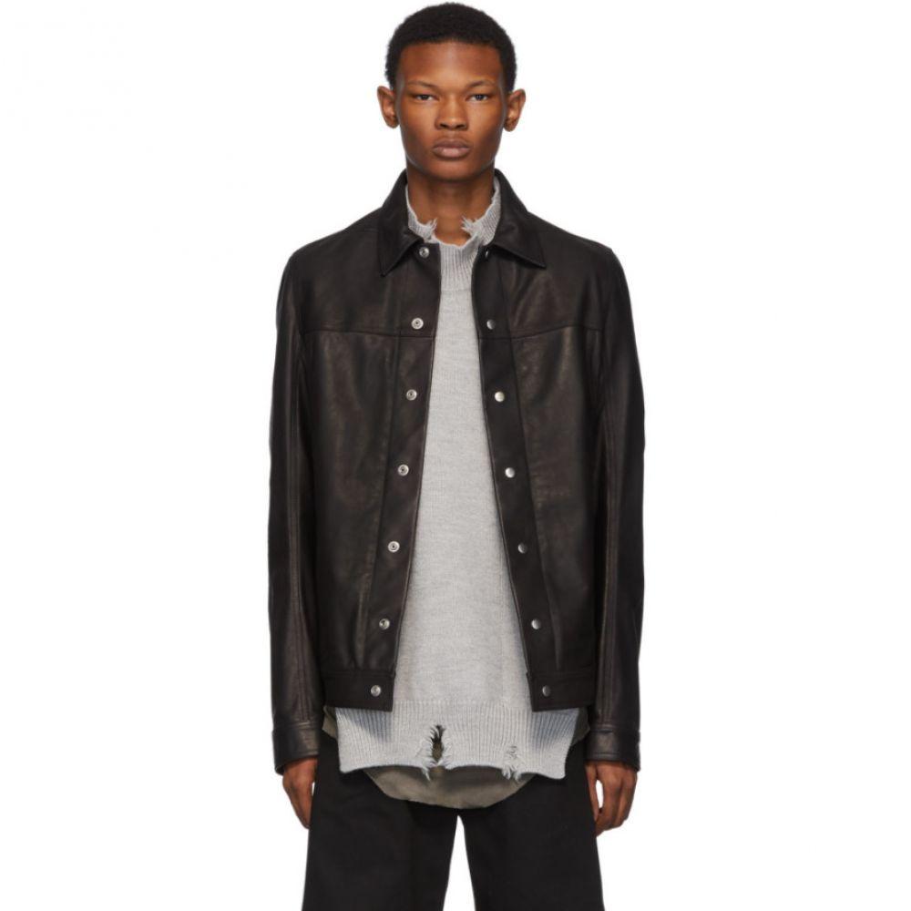 リック オウエンス Rick Owens メンズ レザージャケット ワークジャケット アウター【black leather worker jacket】