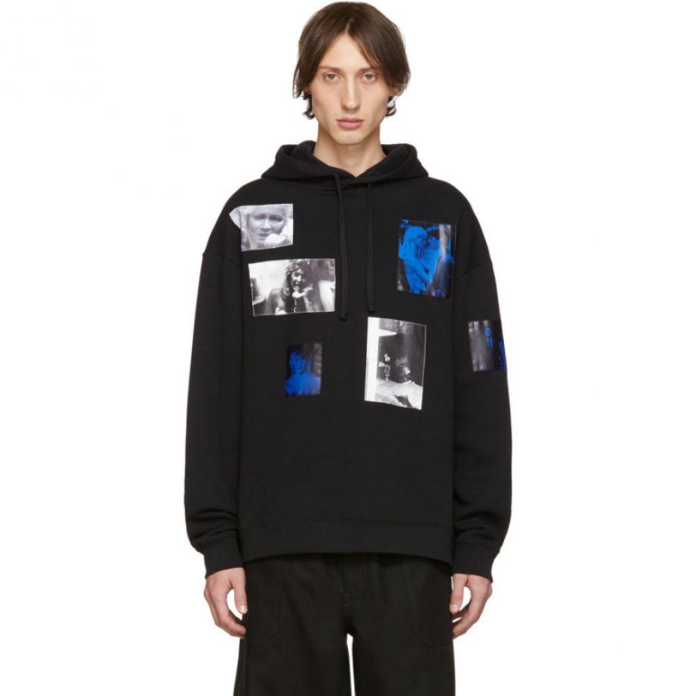 ラフ シモンズ Raf Simons メンズ パーカー トップス【black patch pictures hoodie】