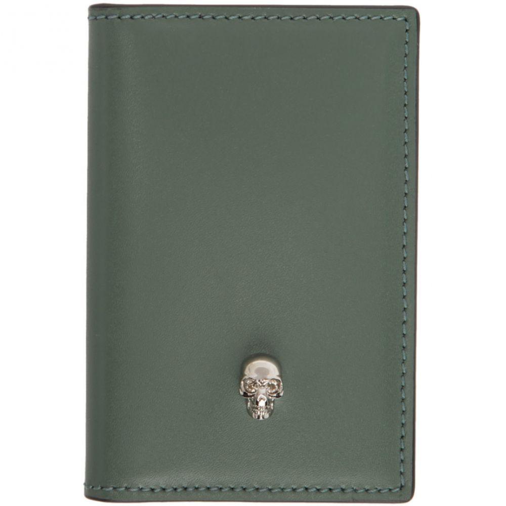 アレキサンダー マックイーン Alexander McQueen レディース 雑貨 【ssense exclusive green skull pocket organizer】