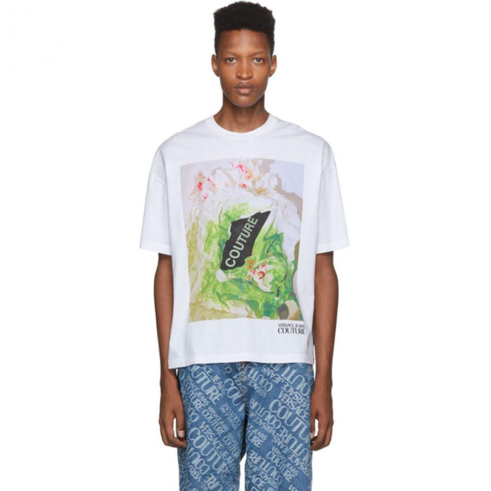 ヴェルサーチ Versace Jeans Couture メンズ Tシャツ トップス【white couture capsule t-shirt】