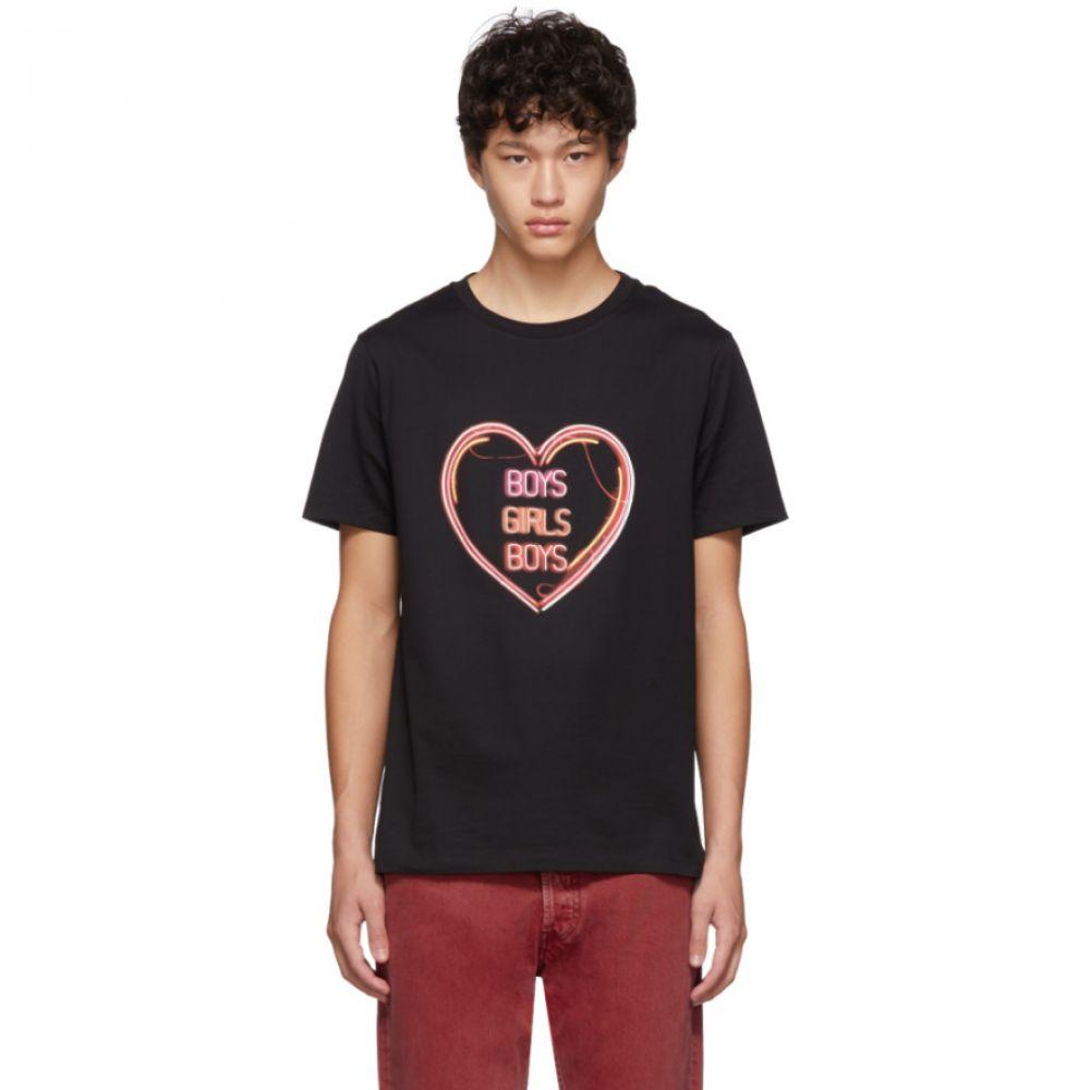 ニール バレット Neil Barrett メンズ Tシャツ トップス【black oversized 'boys girls boys' t-shirt】