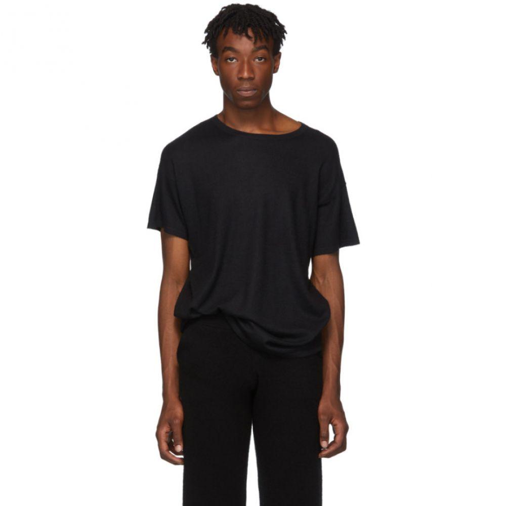 Frenckenberger メンズ Tシャツ トップス【black cashmere t-shirt】