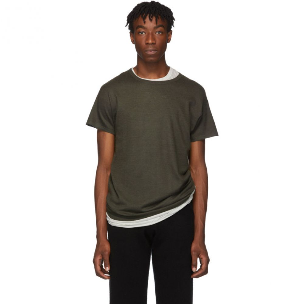 Frenckenberger メンズ Tシャツ トップス【green cashmere t-shirt】