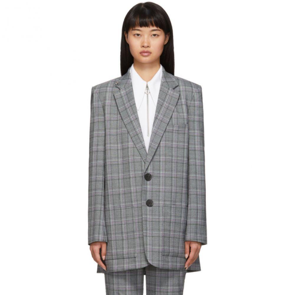 ティビ Tibi レディース スーツ・ジャケット アウター【grey check james menswear long blazer】