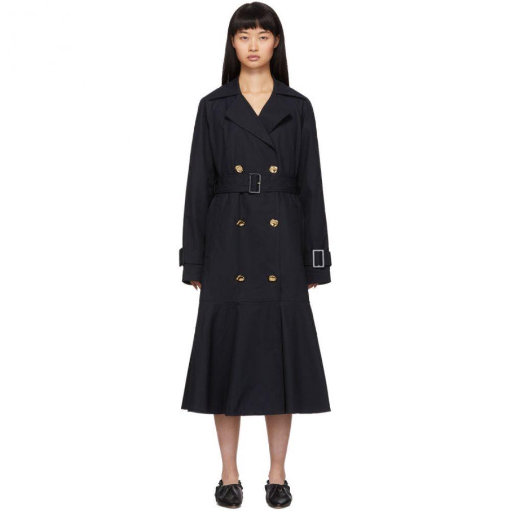 ティビ Tibi レディース トレンチコート アウター【navy twill trench coat】