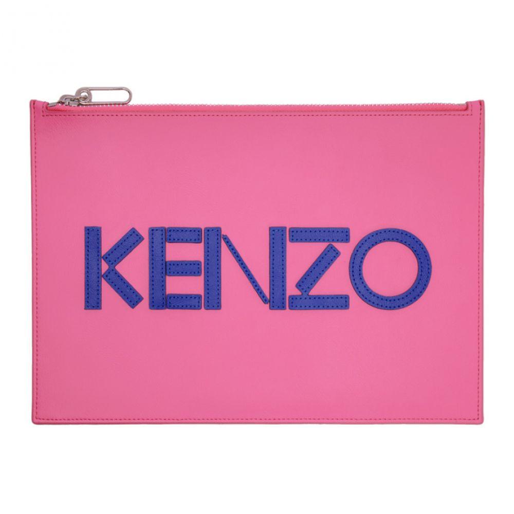 ケンゾー メンズ 財布・時計・雑貨 ポーチ 【サイズ交換無料】 ケンゾー Kenzo メンズ ポーチ 【pink colorblock a4 pouch】