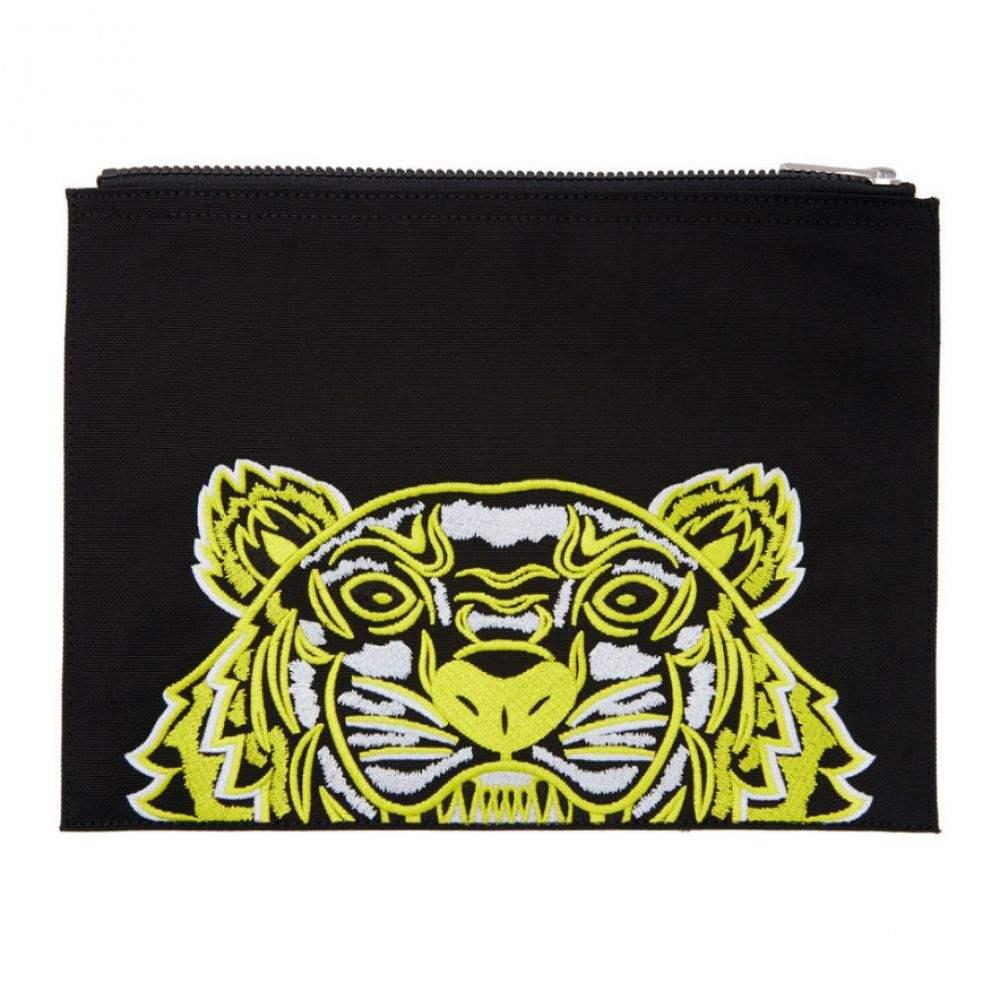 ケンゾー メンズ 財布・時計・雑貨 ポーチ 【サイズ交換無料】 ケンゾー Kenzo メンズ ポーチ 【black limited edition high summer tiger a4 pouch】