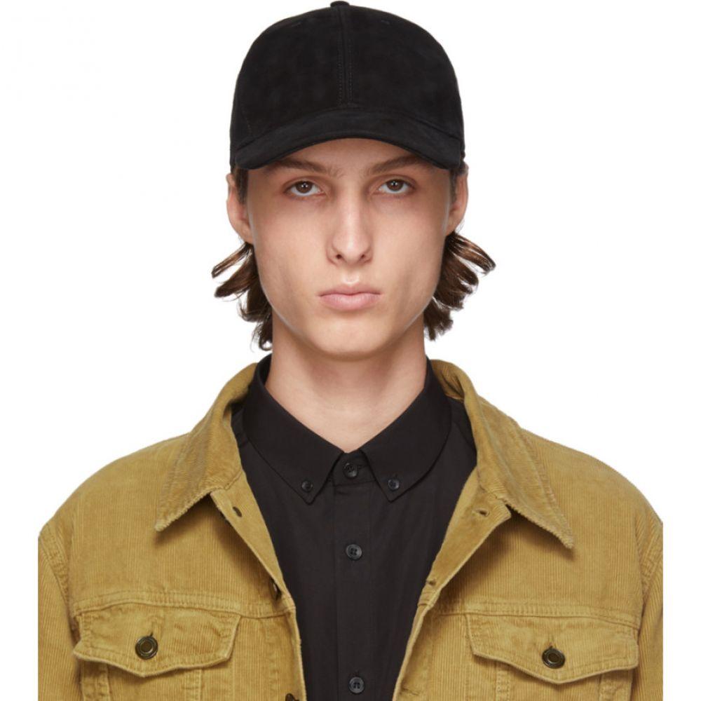 イヴ サンローラン メンズ 帽子 その他帽子 【サイズ交換無料】 イヴ サンローラン Saint Laurent メンズ 帽子 【black suede cap】