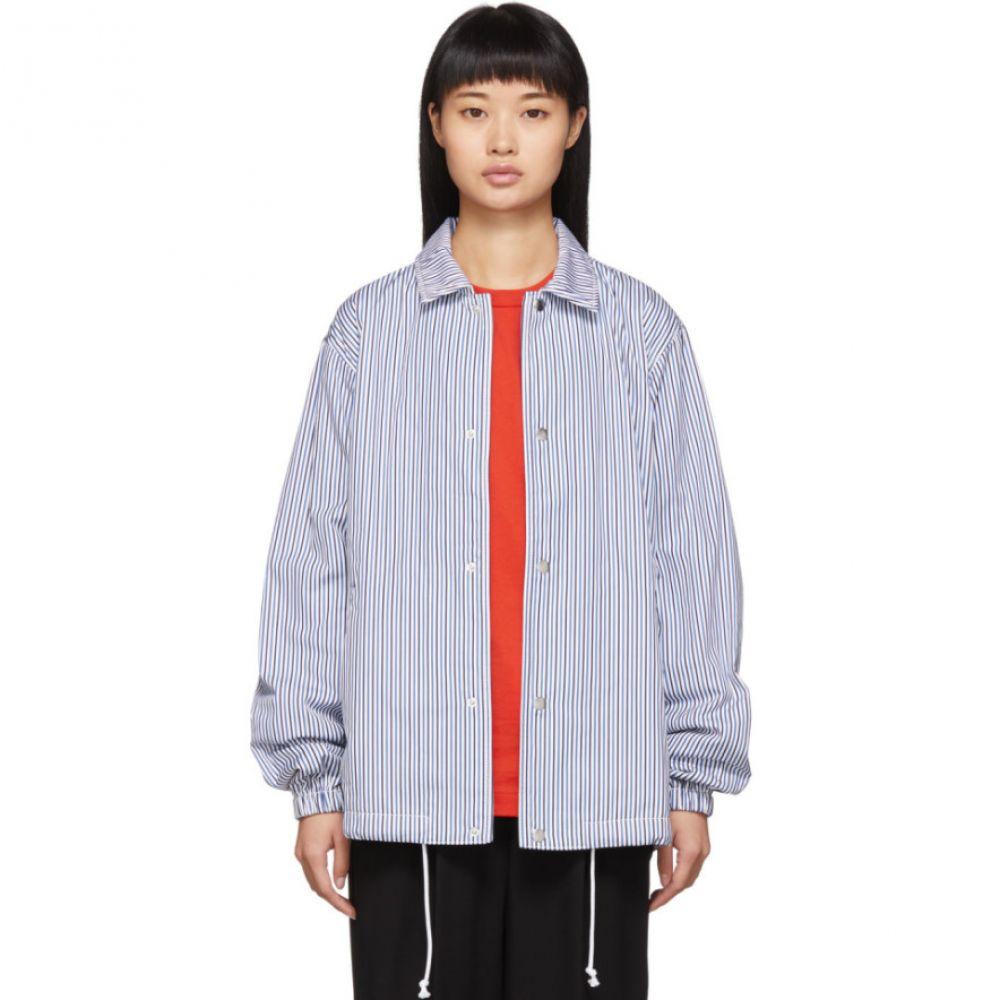 コム デ ギャルソン Comme des Garcons Shirt レディース ジャケット コーチジャケット アウター【blue & white striped coach jacket】
